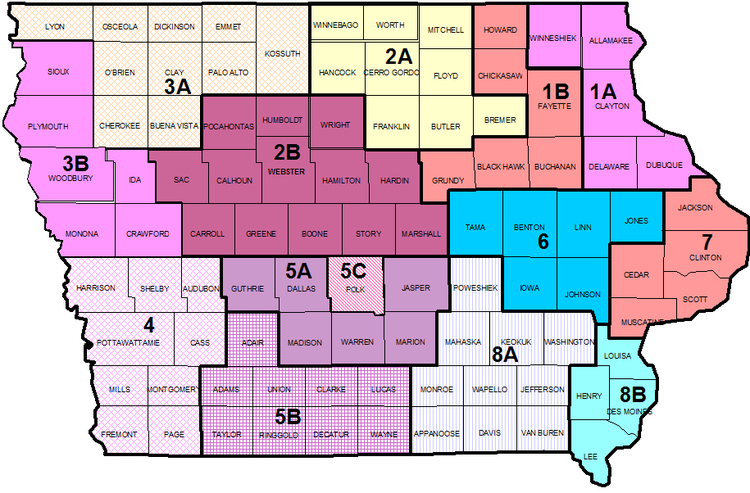 District Map with Counties and SubDistricts